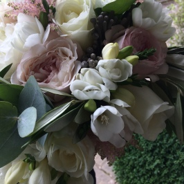 Scented Garden rose and Eucalyptus