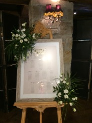 Table plans and seating arrangements