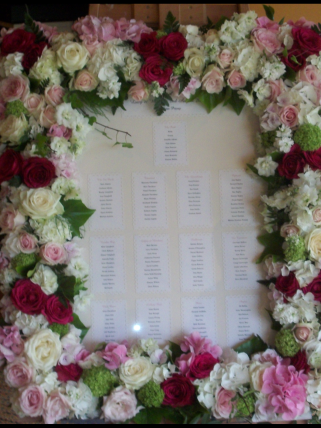 Beautiful welcome or table plan makes a statement.