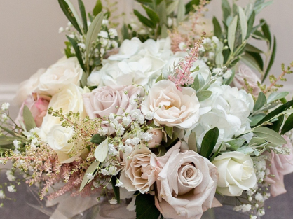 Pale blush, ivory and grey picture courtasy of Katie Byram Photography