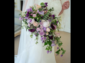 pretty summer bouqet using Peony and Sweet Pea.