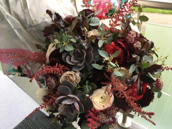 textured winter bouquet